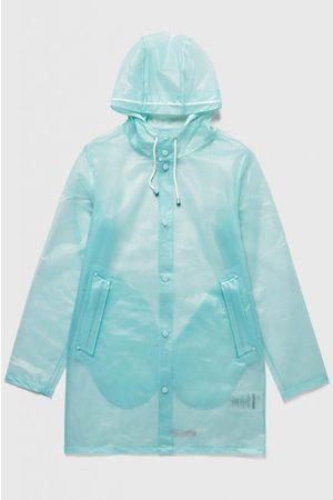 Stutterheim Stockholm Semi-Transparent Raincoat - AQUA