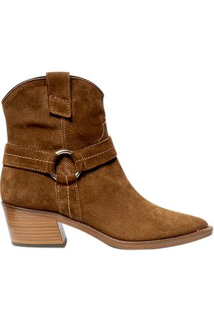 Via Roma Women Cowboy Boots - SUEDE LEATHER COWBOY BOOTIES