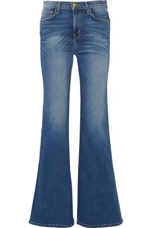 CURRENT/ELLIOTT Women Flares - Woman The Girl Crush Faded Mid-rise Flared Jeans Mid Denim Size 23