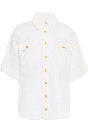 ZIMMERMANN Women Short sleeves - Woman Kirra Broderie Anglaise Cotton Shirt Size 1