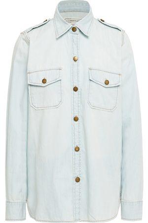 CURRENT/ELLIOTT Women Denim - Woman Denim Shirt Light Denim Size 0