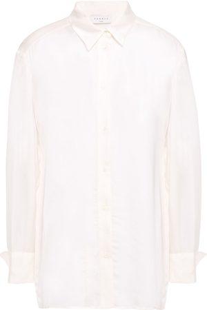 SANDRO Women Long sleeves - Woman Satin Shirt Ecru Size 3