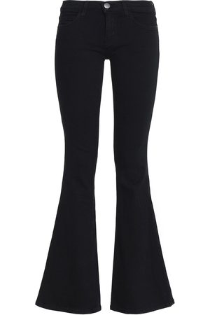 CURRENT/ELLIOTT Women Flares - Woman The Low Bell Mid-rise Flared Jeans Size 24