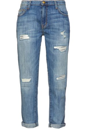 CURRENT/ELLIOTT Woman Faded Boyfriend Jeans Mid Denim Size 24