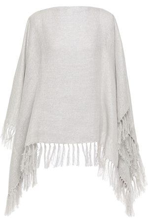 BRUNELLO CUCINELLI Woman Fringed Metallic Gauze Wrap Size