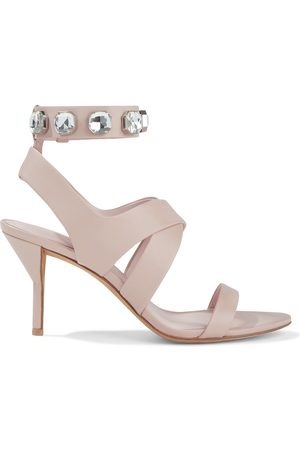 3.1 PHILLIP LIM Women Sandals - Woman Kiddie Crystal-embellished Leather Sandals Blush Size 36