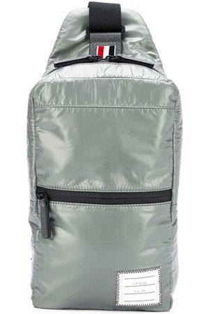 Thom Browne Men Rucksacks - Ripstop crossbody backpack - Grey