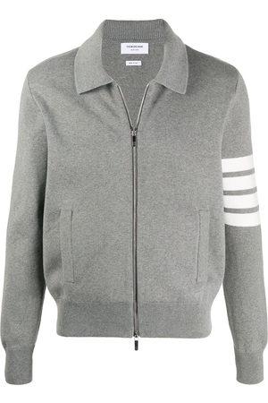 Thom Browne 4-Bar zip-up bomber jacket - Grey