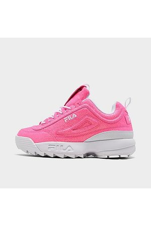Fila Girls' Big Kids' Disruptor 2 Glimmer Casual Shoes Size 4.0