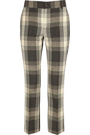 Soeur Edgar plaid slim-leg wool trousers