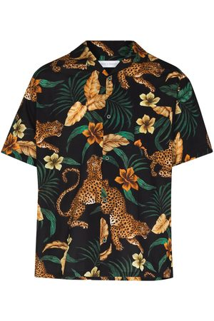 Desmond & Dempsey Jungle print pajama shirt