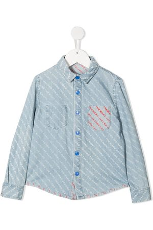 The Marc Jacobs Kids Logo-print denim shirt
