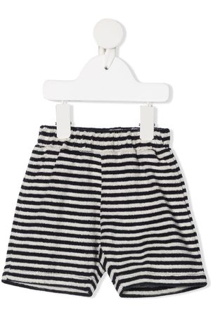 Douuod Kids Terry-towelling striped shorts