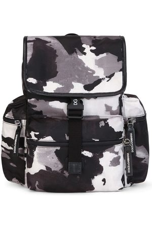 Dolce & Gabbana Kids Camouflage-pattern buckled backpack