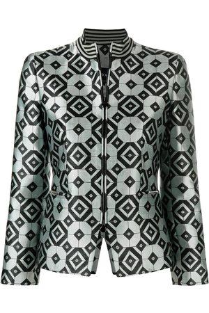 Giorgio Armani Geometric print tailored jacket