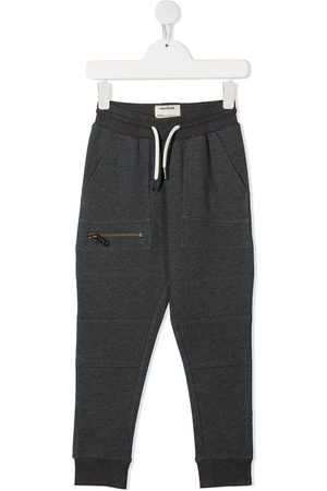 Zadig & Voltaire Kids Logo-patch drawstring track pants - Grey
