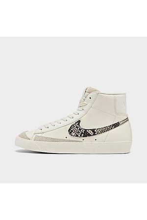 Nike Women Casual Shoes - Women's Blazer Mid '77 SE Animal Casual Shoes in Off- /Sail Size 6.0 Leather