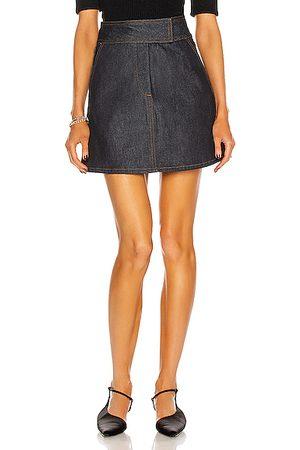 KHAITE Giulia Denim Skirt in Denim-Dark