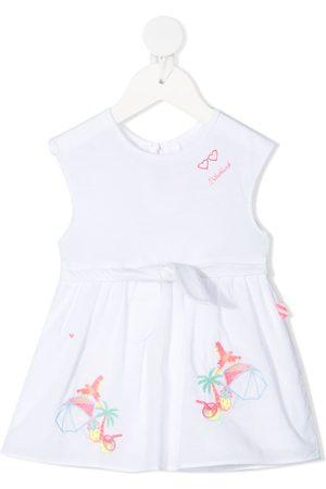 Billieblush Embroidered motif cotton dress