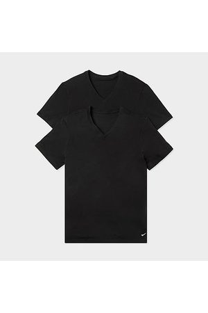 Nike Men's Everyday V-Neck T-Shirts (2-Pack) in / Size Small 100% Cotton/Knit