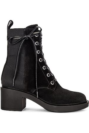 Gianvito Rossi Suede Lace Up Booties in