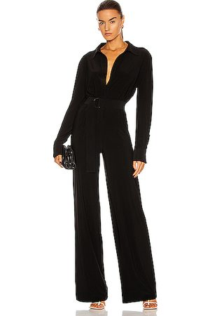 Norma Kamali Shirt Straight Leg Jumpsuit in