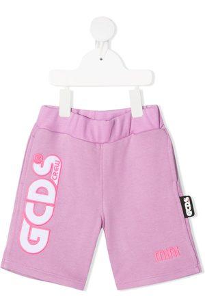 Gcds Kids Logo-embellished shorts