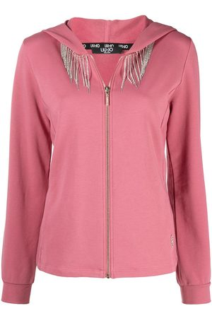 Liu Jo Women Hoodies - Crystal embellished chest hoodie