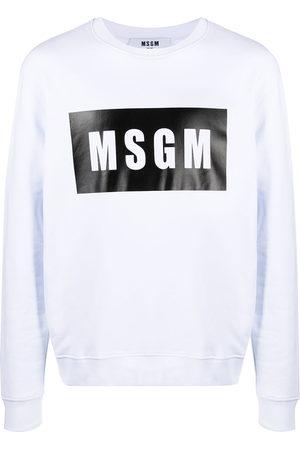 MSGM Box logo-print sweatshirt