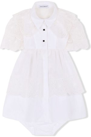 Dolce & Gabbana Kids Lace-overlay short-sleeve dress