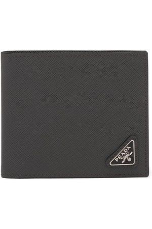 Prada Saffiano leather bi-fold wallet - Grey