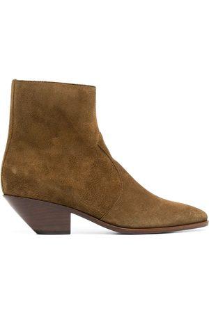 Saint Laurent West 45mm suede ankle boots