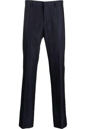 GCDS Men Skinny Pants - Pinstripe slim straight-leg trousers