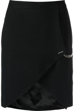 John Richmond Chain-link detail asymmetric-hem skirt