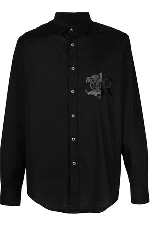 John Richmond Embroidered chest shirt