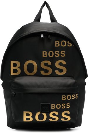 BOSS Kidswear Logo print backpack