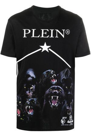 Philipp Plein Panther-print short sleeved T-shirt