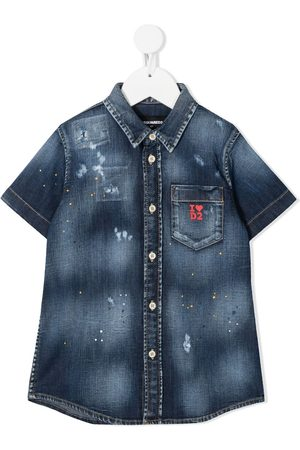 Dsquared2 Kids Distressed denim shirt
