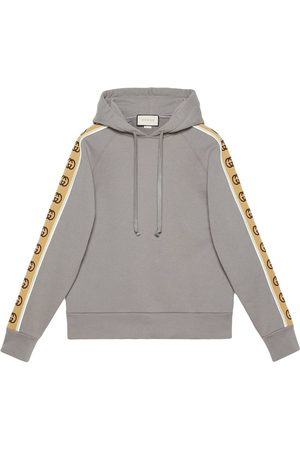 Gucci Logo-tape hoodie - Grey