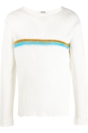 Saint Laurent Intarsia-knit jumper