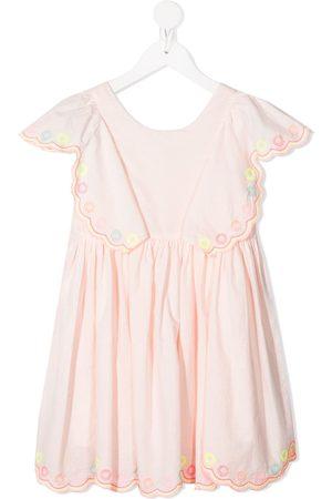 Billieblush Girls Summer Dresses - Scalloped trim cotton sundress