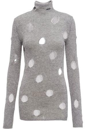 Prada Cut-out mock-neck jumper - Grey