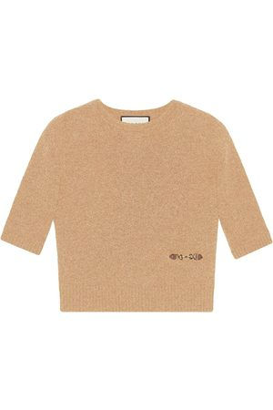 Gucci Horsebit-embellished knitted top