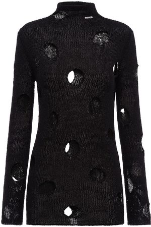 Prada Openwork turtleneck jumper
