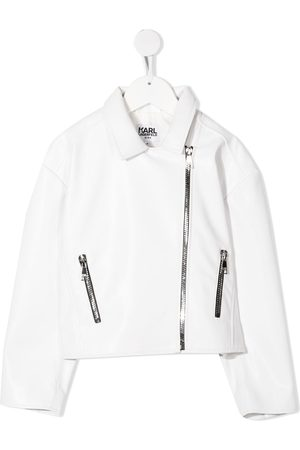 Karl Lagerfeld Logo print biker jacket
