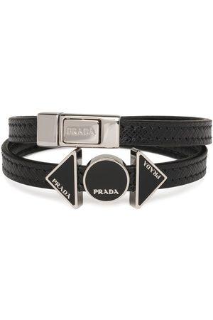 Prada Logo plaque wraparound bracelet