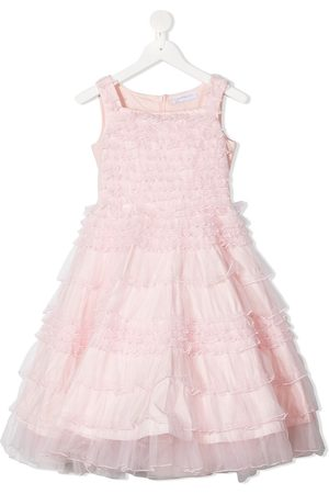 Monnalisa Sleeveless ruffled tiered dress