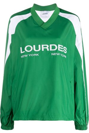 Lourdes Logo-print long-sleeved jersey