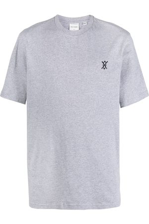 Daily Paper Embroidered logo T-shirt - Grey