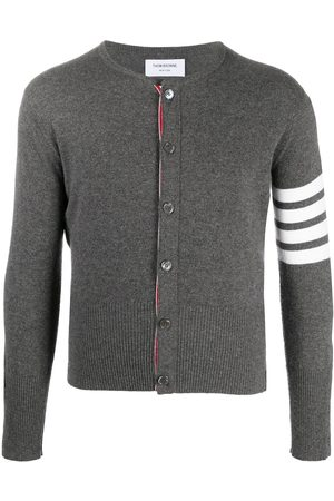 Thom Browne 4-Bar crew neck cardigan - Grey